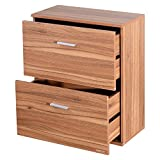 Cirocco 2 Drawer Chest Wood – Nightstand Storage Organizer Cabinet | Modern Contemporary Non Toxic Space Saving Furniture Dresser | Heavy Duty Durable for Bedroom Living Room Home Indoor Gadgets