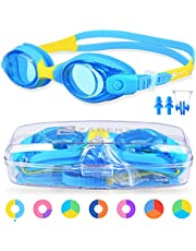 ZABERT Kids Swimming Goggles For 0-14 Years Baby Toddler Junior Children Girls Boys Youth Swim Goggles, Anti Fog UV Protection Silicone Comfort - With Free Protection Case Nose Clip Ear Plugs