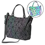 HotOne Shard Lattice Design Geometric Bag PU Leather unique purses and Handbags(Luminous)