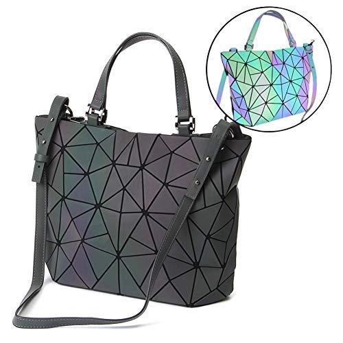 HotOne Geometric Luminous Purses and Handbags Shard Lattice Eco-friendly  Leather Holographic Purse(Luminous 09444365e10fb