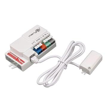 Bloomgreen Co. Merrytek autorizado del interruptor del sensor de movimiento MC605V / D AC 120