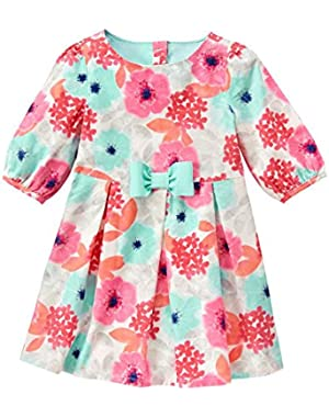 Baby Girls' Floral Print Corduroy Dress