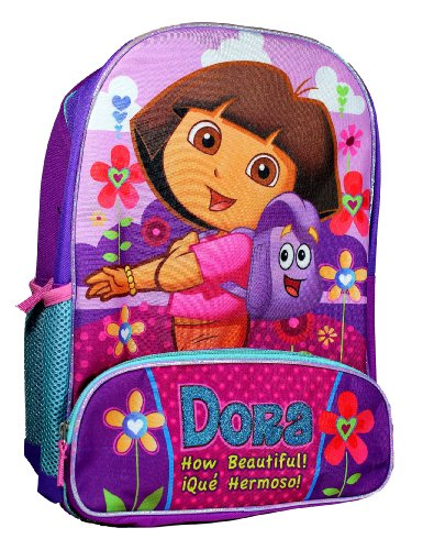 (FAB Starpoint Dora the Explorer Animated TV Series Backpack / School Bag with Image of Dora and