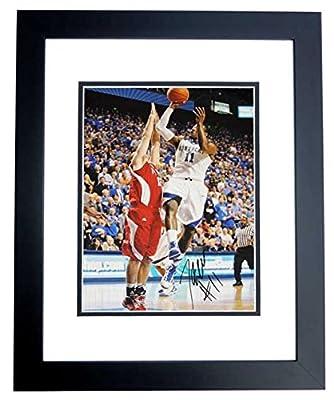 John Wall Autographed / Hand Signed Kentucky Wildcats 11x14 Photo BLACK CUSTOM FRAME - Washington Wizards