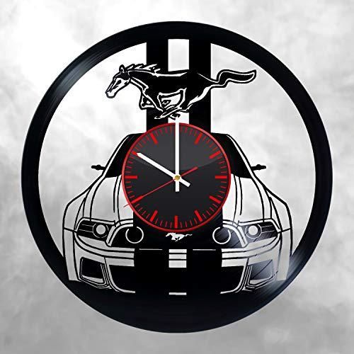Ford Mustang Vinyl Clock