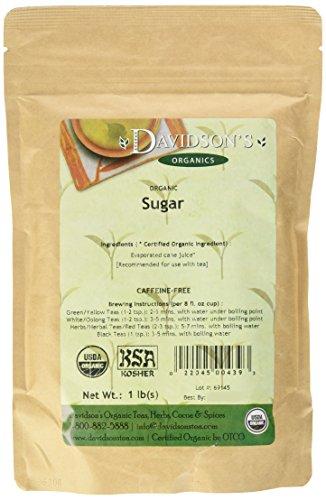 Davidson's Tea Bulk, Organic Sugar, 16-Ounce Bag