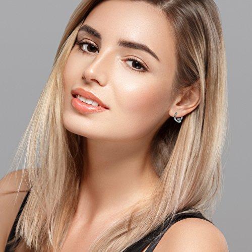 Hinged Cupimatch Earrings Steel Women Star Beads 12mm Pairs Men 3 Earrings Circle Stainless Hoop For silver Huggie twrwqg1