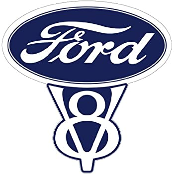 "Vintage Ford V8 Decal 5.5"" Fast Free Shipping from the United States"