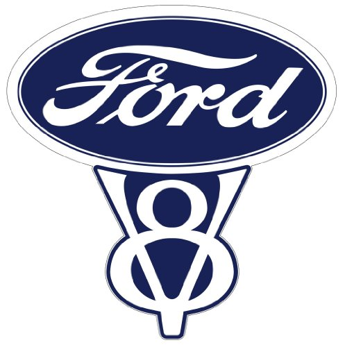 Vintage Ford V8 Decal 5.5