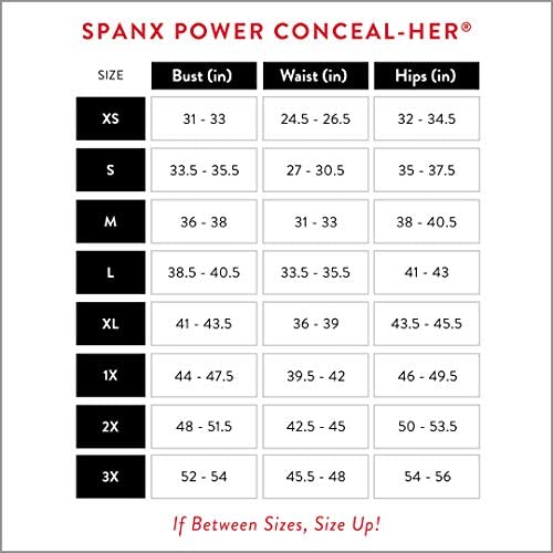 SPANX Shapewear for Women, Power Conceal-Her Open-Bust Mid-Thigh Bodysuit (Regular and Plus Sizes)