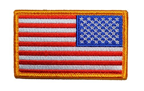 Reverse American Flag Patch, Old Glory (Red, White & (Reverse American Flag Patch)