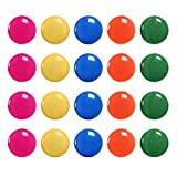 Meetory 20X Notice Board/Planning Magnets - Fridge Whiteboard Magnetic Button,30 mm,Five Assorted Colors Random