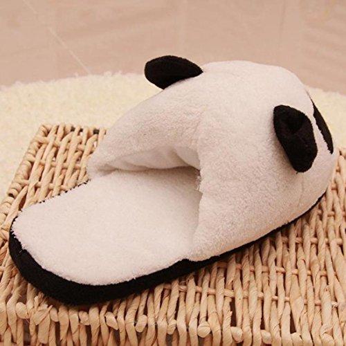Xilalu Donna Uomo Bella Panda Inverno Caldo Peluche Antiscivolo Pantofole Casa Interna C (uomini)