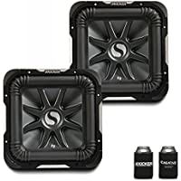 Kicker 11S12L72 Bundle - Two Solobaric L7 12 Dual 2-Ohm Subwoofers