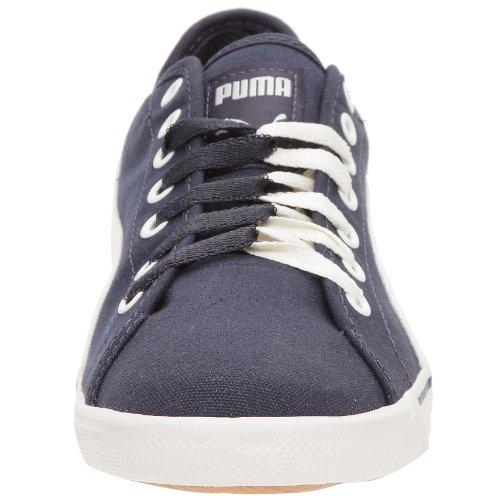 Puma Benecio Canvas 350754 Unisex - Erwachsene Sneaker Blau/New Navy-Cloud Dancer