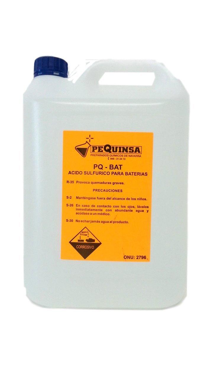Acido de baterí as. Envase de 5 litros. PREPARADOS QUIMICOS DE NAVARRA