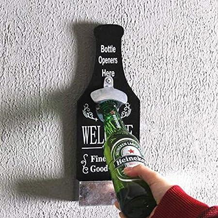YUDIYUDI Remover Corcho del sacacorchos, Duradera Resistente Botella de Cerveza Creativa Abridor Decoraciones de Pared Cafetería Bar Barbacoa Tienda Práctico decoración de la Pared Colgante