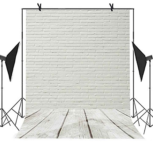 Brick Wall Backdrop MEETSIOY 5x7ft White Building Photography Background Themed Party Photo Booth YouTube Backdrop MT063 … by MEET's story