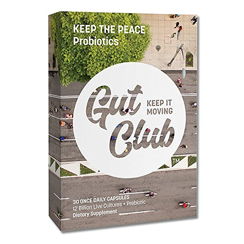 Gut Club – Keep The Peace Daily Probiotic with Prebiotic, 12 Billion CFU, 30 Day Supply, Daily Digestive Support for Men & Women, Blister Sealed, (30 count) Review