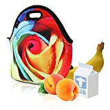 Neoprene Lunch Bag by iColor — Insulated Lunchbox — Thermal Lunch Tote Bag —Water Resistant Lunch Box & Food Container — Great for Travel, Outdoors, Work & More — Food Storage Cooler
