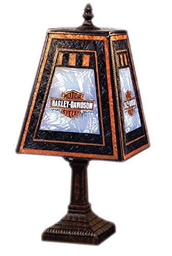 Harley-Davidson Art Glass Lamp - 14 1/2in.H, 60 Watt