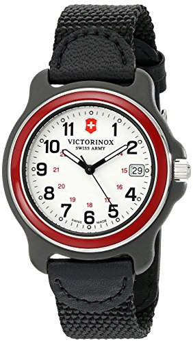 Swiss Gents Watch - Victorinox Men's 249088 Original Analog Display Swiss Quartz Black Watch