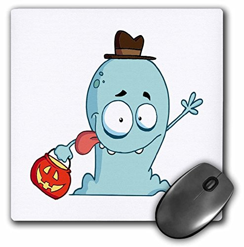 (3dRose Dooni Designs More Random Cartoon Designs - Cute Halloween Ghost Trick Or Treating - MousePad)