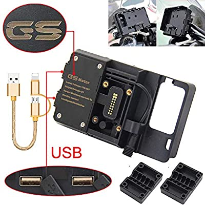 for BMW R1200GS Mobile Phone Navigation Bracket ADV F700 800GS CRF1000L Africa Twin for Honda Motorcycle USB Charging 12MM Mount ZQXUYKAN