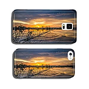 Dry branch with the lake background and wave cell phone cover case Samsung S6