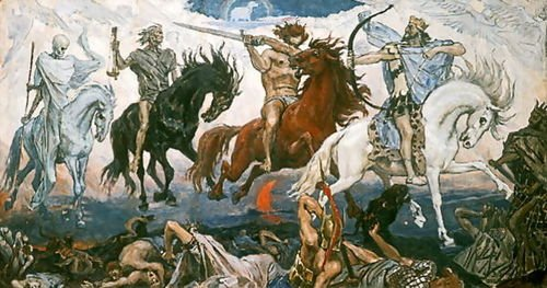 Viktor Vasnetsov The Four Horsemen of the Apocalypse, 1887 137x72 [Kitchen]