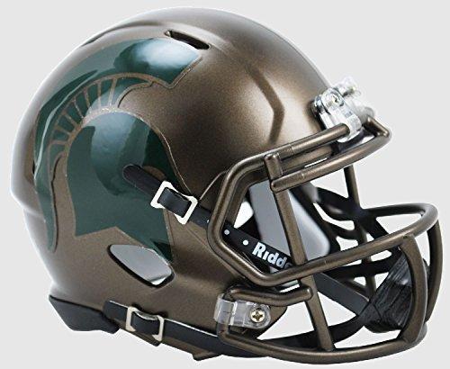 (New Riddell Michigan State Spartans Bronze Speed Mini Football Helmet)