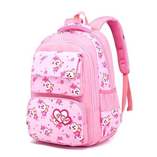 Girls Baby Kids Kindergaten Print Backpack School Bag Lovely Rucksack (Pink) by Sinzelimin