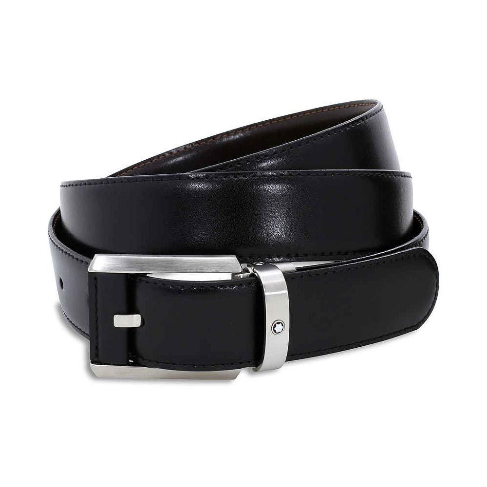Mont Blanc Men's Contemporary Reversible Belt, Black/Brown, One Size