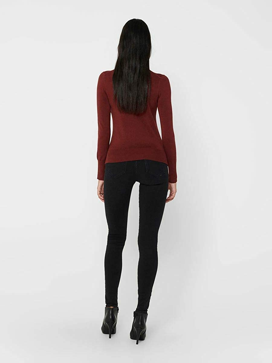 Only Onlvenice L//S Rollneck Pullover Knt Noos Donna