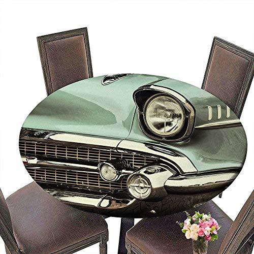 PINAFORE Round Tablecloths Rétro Image de Style d