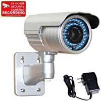 VideoSecu 1/3 PIXIM DPS WDR OSD 690TVL CCTV Bullet Security Camera Outdoor Day Night High Resolution 48 IR Infrared Leds 6-15mm Zoom Lens Home Surveillance with Power Supply WE2