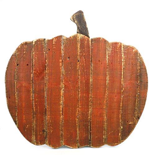 Kel-Toy Inch Distressed Wooden Wall Art, Pumpkin Sign - fall wall art decor