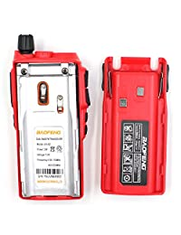 2PCS BaoFeng UV82 UV 82 correa dual VHF   UHF Radio de dos vías portátil analógica roja