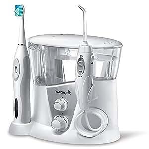 Waterpik Complete Care 7.0 Irrigador y cepillo de dientes electrico sonico, Blanco