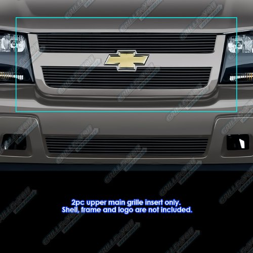 APS Compatible with 2006-2008 Chevy Trailblazer LT Black Billet Grille Grill Insert C66465H (Grill For A Trail Blazer)
