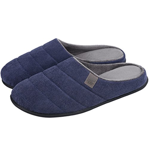 Closed Men's Slippers Anti Light Indoor Toe LongBay Slip Foam Weight Shoes Memory Navyblue Wt1Rdndqw0