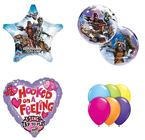 Guardians of the Galaxy Hooked on a Feeling Sing a Tune Balloon Bouquet (Guardians Of The Galaxy Decorations)