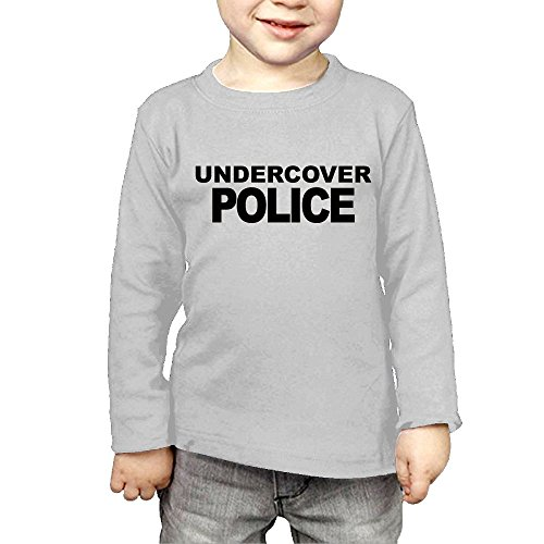 Scanner Carriage (ZheuO Boys & Girls Baby Undercover Police Soft and Cozy 100% Cotton T-Shirts Unisex Gray 3 Toddler)