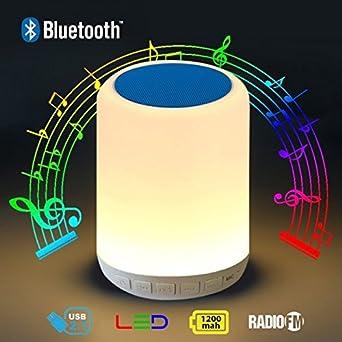 Lampe Haut Msc Parleur De Lumière W Led 5 Smart Nuit Bluetooth 08PwOnk