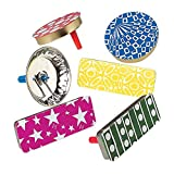U.S. Toy Assorted Design Metal Party Noisemakers (50)