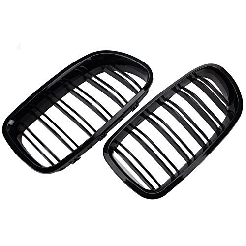 2x Bmw 5 Series F10 F11 Painted Glossy Black Front Grille Grill