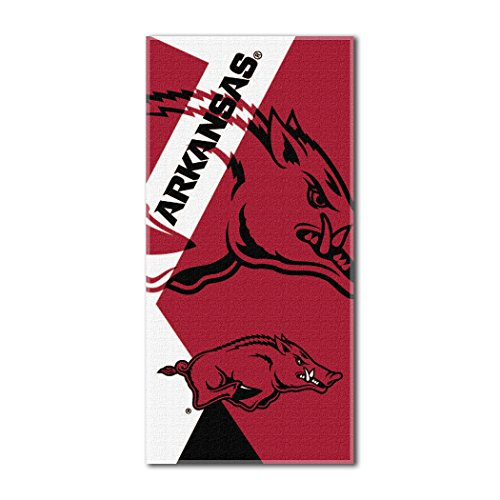 The Northwest Company Officially Licensed NCAA Arkansas Razorbacks Puzzle Beach Towel, 34