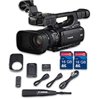 Canon XF100 HD Professional Camcorder + 2 PC 16 GB Memory Cards + All Manufacturer Accessories - International Version