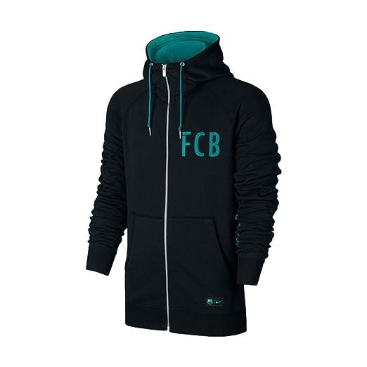 8f4dcf76980d Nike Men s Barcelona NSW Hoodie Full-Zip FT Authentic Soccer Hooded  Sweatshirt (X-