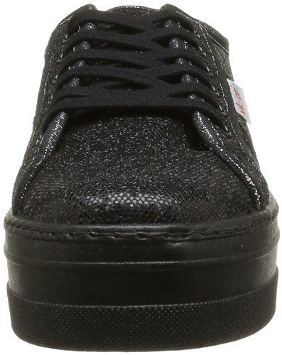 compensées Noir Blucher femme Glitter Victoria Negro Boots OUBw7wx